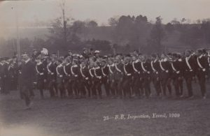 The Battalion parades on the Ground.Photograph from the Jack Sweet collection